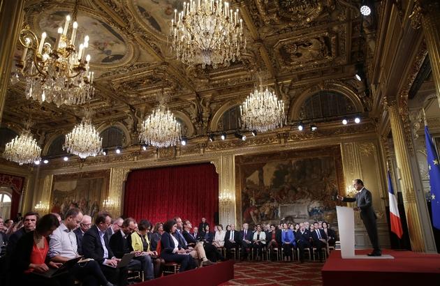 François Hollande donne une conférence de presse à l'Elysée, le 7 septembre 2015