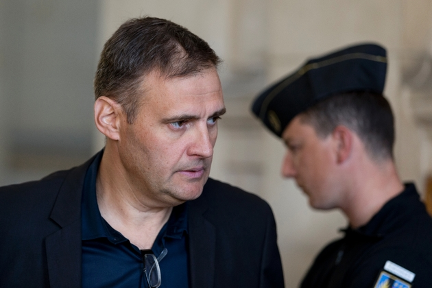 Yvan Benedetti, ancien patron de l'Oeuvre française, le 1er octobre 2015 au palais de justice de Paris où il comparaissait pour incitation à la haine raciale