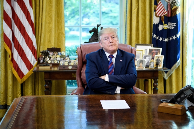 Le président américain Donald Trump, le 26 juillet 2019 dans le Bureau ovale