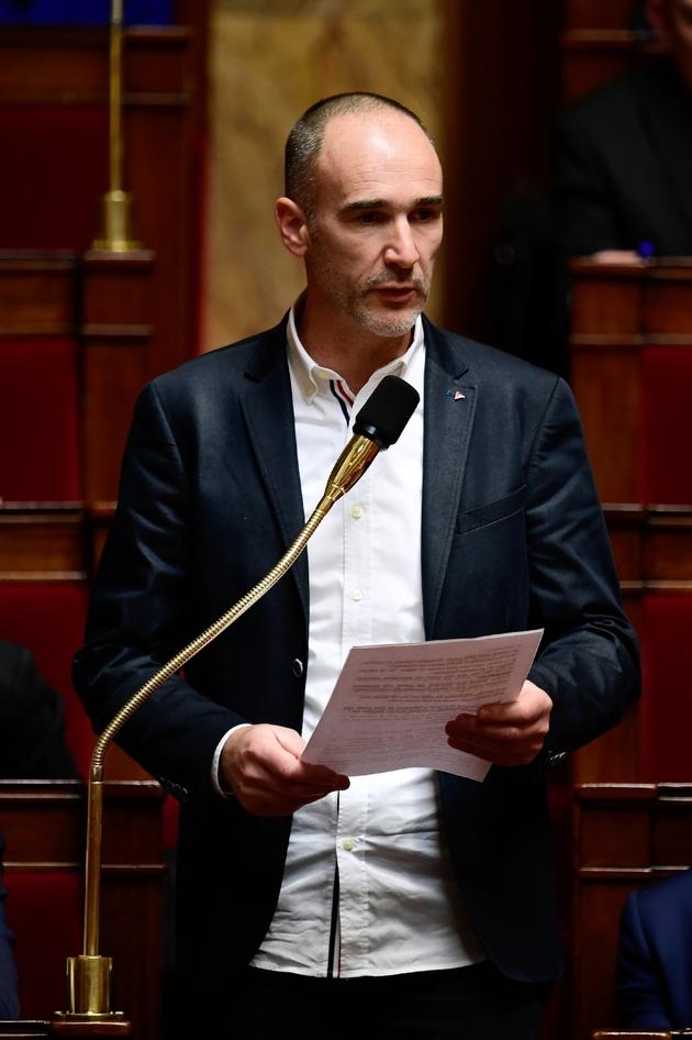 Le député LFI Loïc Prud'homme, à l'Assemblée nationale, le 15 novembre 2017