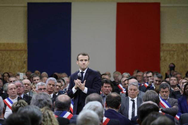 Emmanuel Macron à Souillac, vendredi 18 janvier 2019