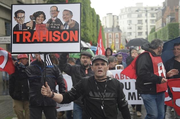 Manifestation contre la loi travail le 12 mai 2016 à Rennes