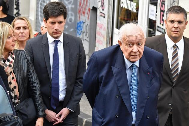 Le ministre du Logement Julien Denormandie et le maire de Marseille Jean-Claude Gaudin, le 5 novembre 2018 à Marseille