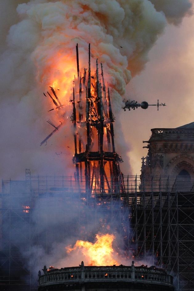 L'incendie de Notre-Dame, à Paris, le 15 avril 2019