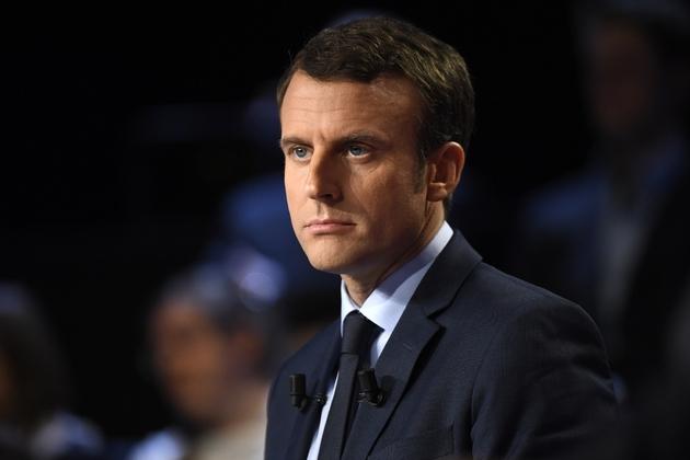 Emmanuel Macron sur le plateau de BFM TV et CNews, le 4 avril 2017 à La Plaine-Saint-Denis