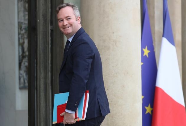 Le secrétaire d'Etat aux Affaires Etrangères Jean-Baptiste Lemoyne le 15 janvier sur le perron de l'Elysée