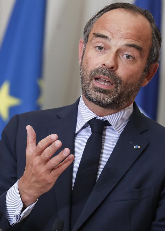 Le premier ministre Edouard Philippe en conférence depresse à l'Elysée le 5 septembre 2018