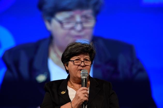 Catherine Barbaroux, présidente par intérim de la République En Marche, à Paris, le 9 novembre 2015