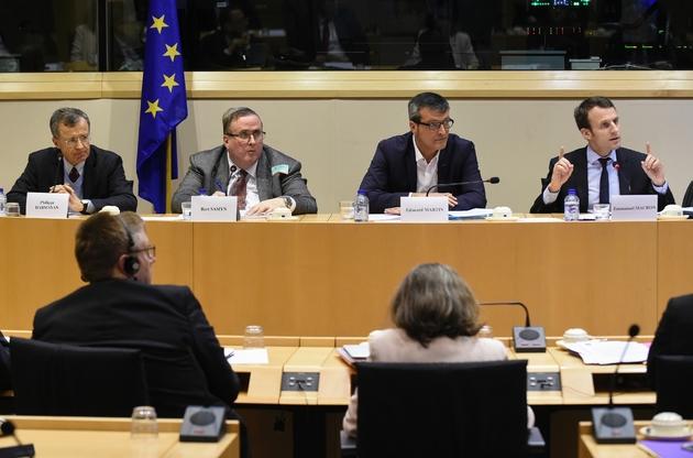 Edouard Martin lors d'une conférence de presse à Bruxelles, le 15 février 2016