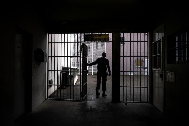 Le centre pénitentiaire de Bourg-en-Bresse dans l'Ain, le 27 novembre 2018