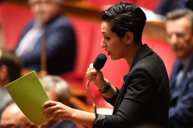 La députée Modem Sarah El Haïry à l'Assemblée nationale, le 16 mai 2018