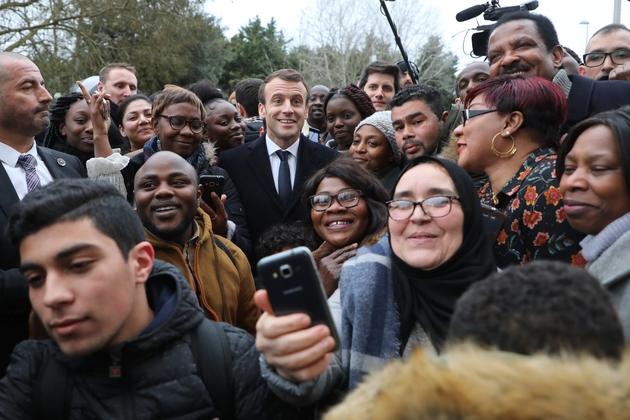 Emmanuel Macron à Evry-Courcouronnes, le 4 février 2019