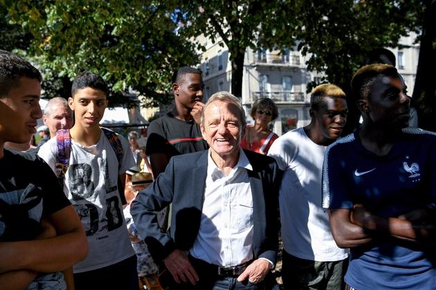 """Alain Carignon lors d'un forum organisé par son mouvement, """"La société civile avec les citoyens"""", le 8 septembre 2018 à Grenoble"""