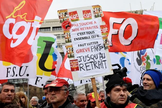Manifestation contre la réforme des retraites le 15 janvier 2020 à Paris