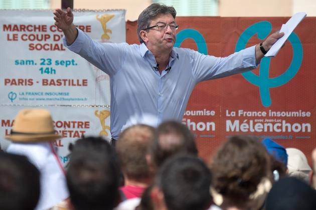 Le leader de La France Insoumise, Jean-Luc Mélenchon, à Marseille le 27 août 2017