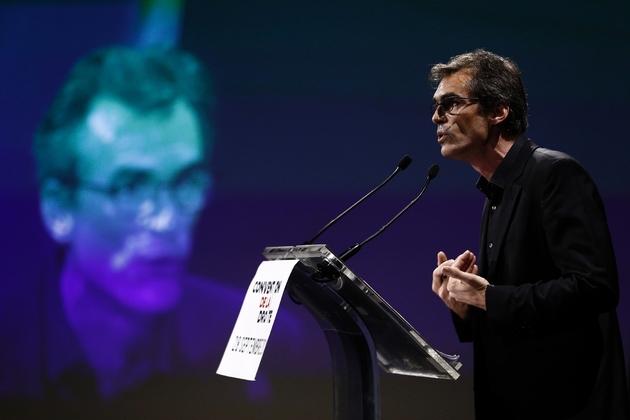 """Le philosophe Raphaël Enthoven à la """"Convention de la Droite"""" à Paris le 28 septembre 2019"""