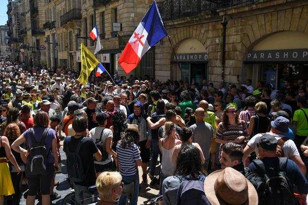 """Rassemblement de """"gilets jaunes"""", le 1er juin 2019 à Bordeaux"""