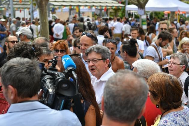 Jean-Luc Mélenchon aux journées de la France insoumise à Marseille, le 25 août 2017