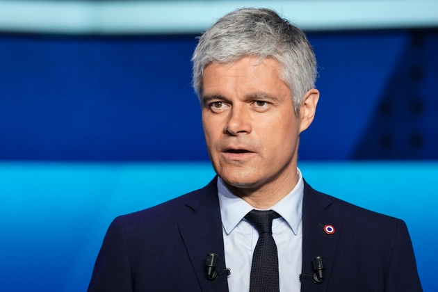 Le patron de LR, Laurent Wauquiez participait au débat de France 2 à Saint-Cloud, le 22 mai 2019