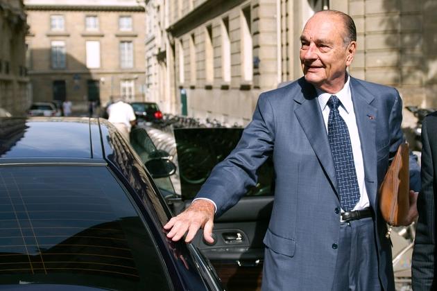 L'ex-président Chirac arrivant à son bureau le 1er septembre 2011, à Paris.
