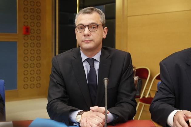 Le secrétaire général de l'Elysée Alexis Kohler devant la Commission des lois du Sénat le 26 juillet 2018 à Paris