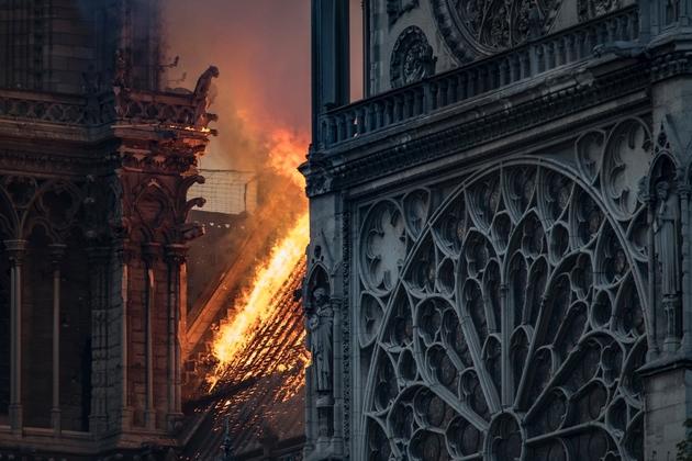 Notre-Dame le 15 avril 2019