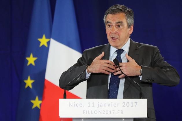 François Fillon lors d'un meeting le 11 janvier 2017 à Nice