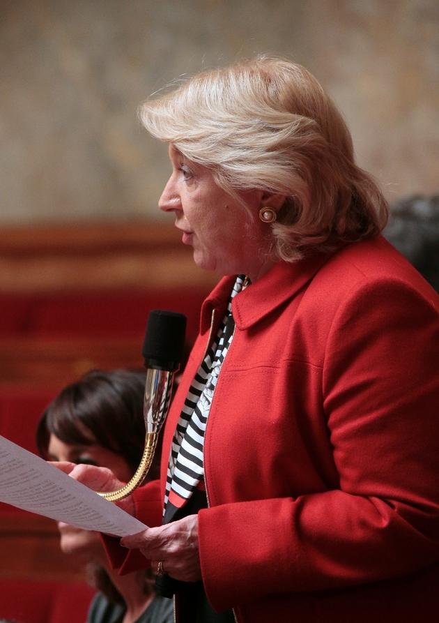 L'ex-députée de la Moselle Marie-Jo Zimmermann s'exprimant à l'Assemblée nationale, lors d'une session de questions au gouvernement. Paris, 27 janvier 2016.