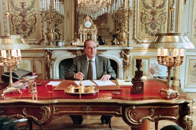 Jacques Chirac à l'Elysée en 1996