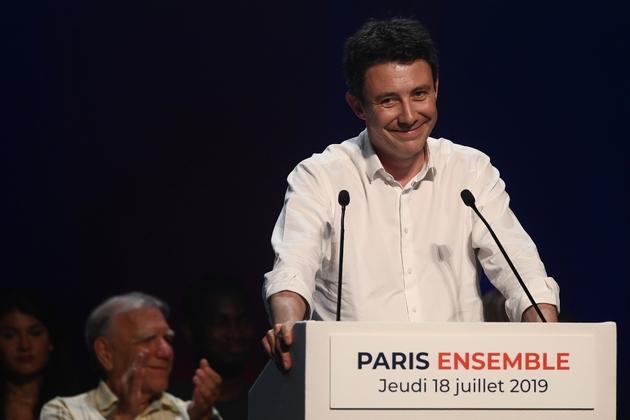 Benjamin Griveaux en meeting à Paris le 18 juillet 2019
