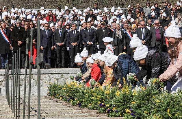 Cérémonie d'hommage aux résistants du plateau des Glières, le 31 mars 2019