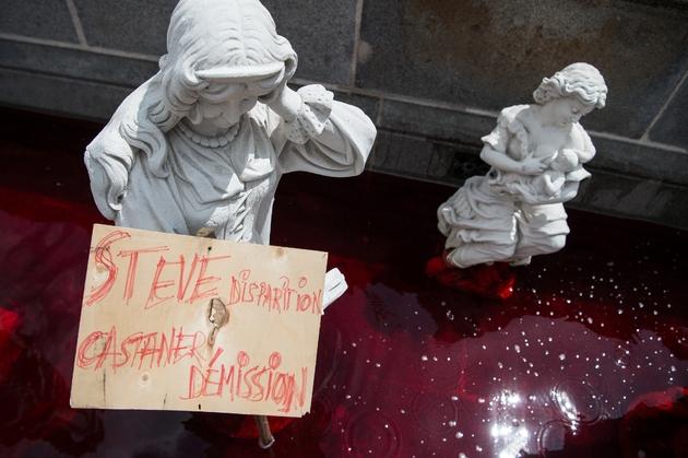 Protestation de manifestants le 30 juillet 2019 à Nantes