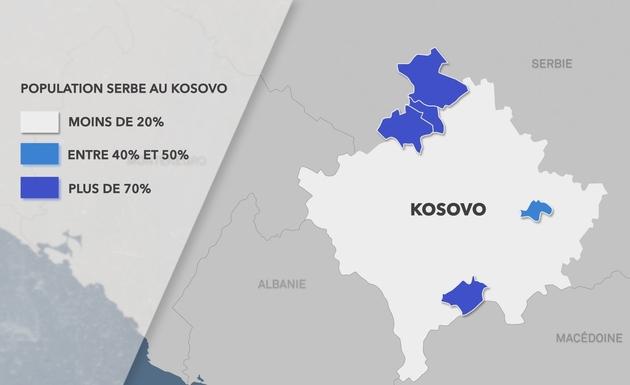 Carte enclaves serbes Kosovo