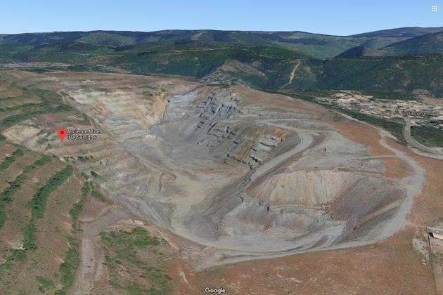 Ancienne mine d'Or de Salsigne (capture d'écran Google Map)