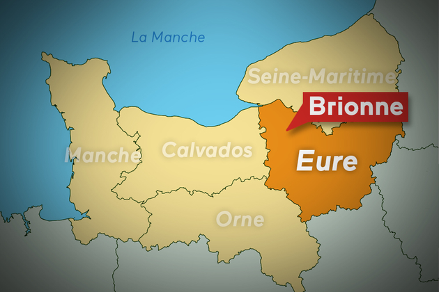 CARTE BRIONNE (EURE)
