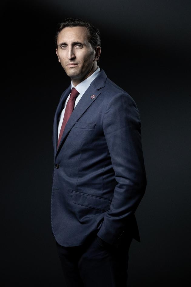 Julien Aubert pose pour l'AFP le 18 septembre 2019 à Paris