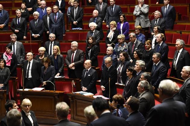 Minute de silence à l'Assemblée nationale, le 20 décembre 2016 à Paris, en hommage aux victimes de l'attentat de Berlin