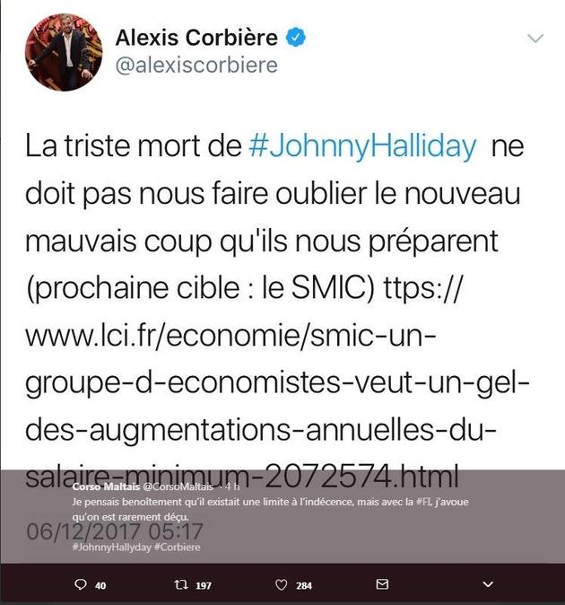 Alexis Corbière tweet