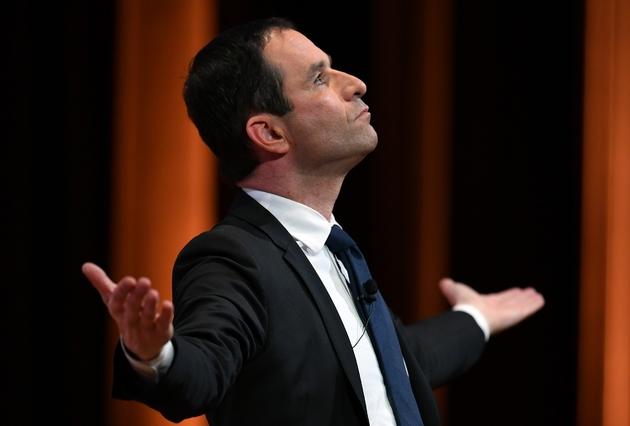 Benoit Hamon en meeting à Montpellier, le 10 janvier 2017