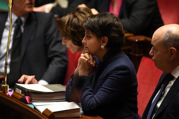 Najat Vallaud-Belkacem lors des questions au gouvernement à l'Assemblée nationale le 7 décembre 2016 à Paris