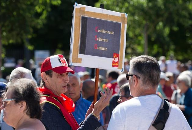 Manifestation contre la hausse de la Contribution Sociale Généralisée (CSG) à Marseille, le 14 juin 2018