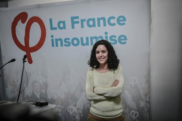 Manon Aubry, candidate La France Insoumise aux électionis européennes, le 14 janvier 2019 à Paris