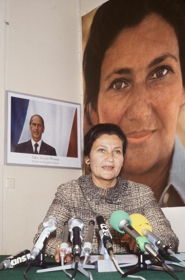 Simone Veil, ministre de la Santé et de la Famille sous Valéry Giscard d'Estaing, le 21 mai 1979