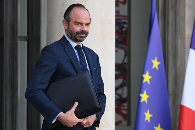 Le Premier ministre Edouard Philippe sur le perron de l'Elysée, le 21 novembre 2018 à Paris
