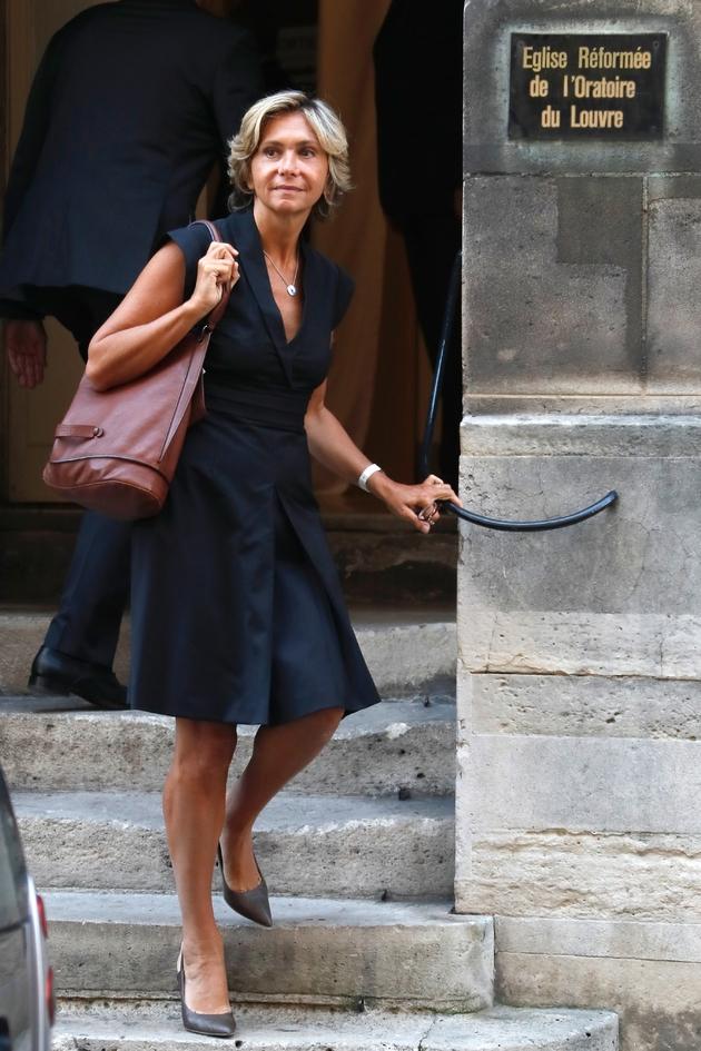 Valérie Pécresse assiste à une cérémonie pour Jérôme Monod le 7 septembre 2016 à Paris