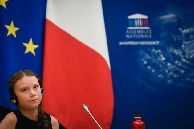 La jeune Suédoise Greta Thunberg reçue à l'Assemblée nationale, le 23 juillet 2019 à Paris