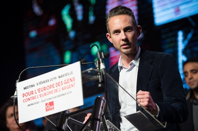 Ian Brossat lors d'un meeting piur les européennes le 5 février 2019 à Marseille