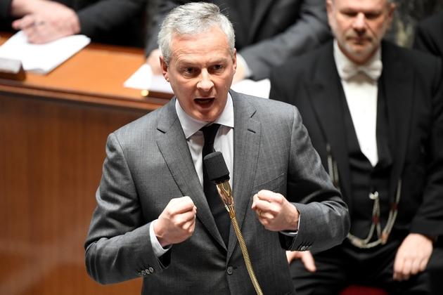 Le ministre de l'Economie Bruno Le Maire à l'Assemblée nationale, le 10 avril 2019 à Paris