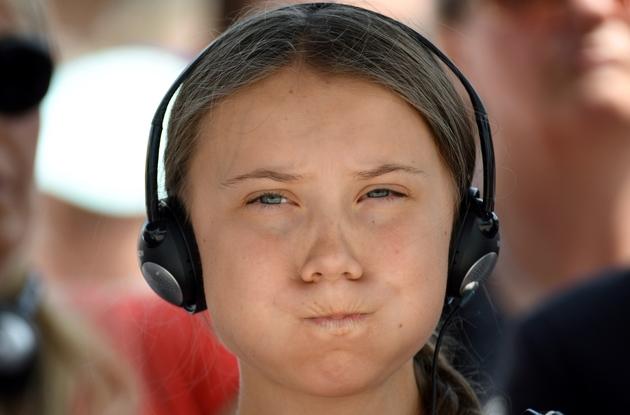 La jeune suuédoise Greta Thunberg, à Caen, le 21 juillet 2019