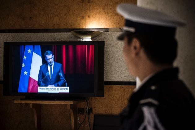 Christophe Castaner présente ses voeux aux forces de sécurité à Paris le 7 janvier 2019